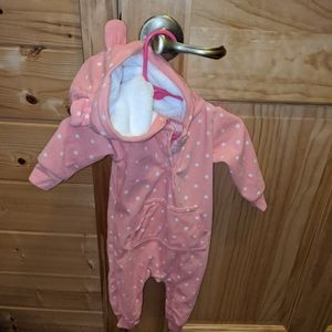 6 month PJs sleeper with ears button legs